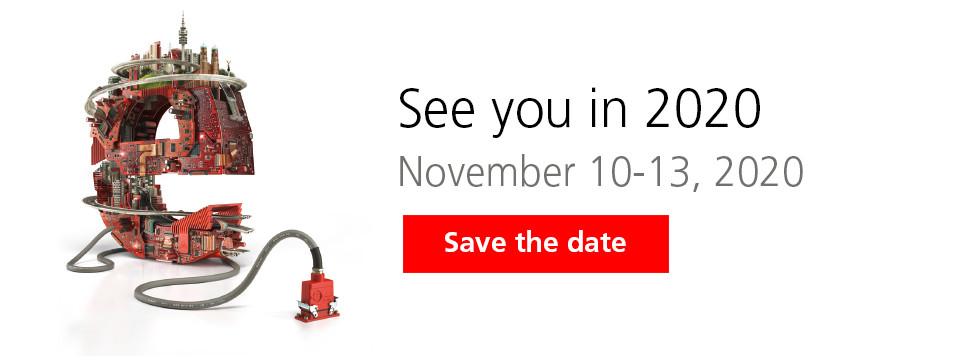Nous serons à Munich du 10 au 13 novembre 2020 pour le Salon ELECTRONICA